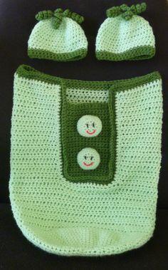 Crochet Twin Two Peas in a Pod Baby Cocoon from Crochet By Sweet Pea