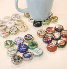 Coasters beer-bottles-and-caps