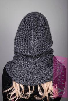 // Hooded Scarf Pattern, Crochet Hooded Scarf, Knit Vest Pattern, Knitting Patterns, Knit Crochet, Crochet Hats, Hooded Vest, Baby Hats Knitting, Knitted Hats