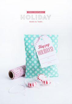 Printable Holiday Bags & Tags