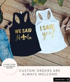 We Said Miami Shirts, Miami Bachelorette Party Shirts And Tanks For The Bride And Bridesmaid, Custom Bridal Party Shirts Bridal Party Shirts, Bridesmaid Shirts, Bridesmaids, Bachelorette Party Shirts, Bachelorette Ideas, Trends, Birthday Shirts, Etsy, Funny
