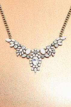 Boston Proper White stone necklace #bostonproper