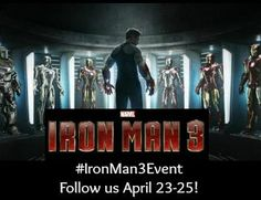 IRON MAN 3 releases in theaters on May 3rd!
