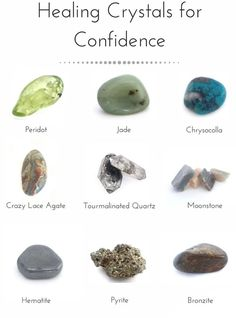 Crystal Healing Stones, Stones And Crystals, Crystal Illustration, Tourmalinated Quartz, Crystal Meanings, Crazy Lace Agate, Chakra Stones, Deco, Peridot