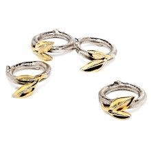 Leaf Design Napkin Rings