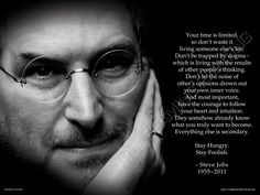 """18""""x24"""" - STEVE JOBS """"Your time is limited"""" Premium Poster, Aqueous Gloss Coated. via Etsy."""