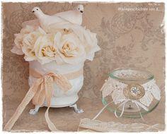 Hochzeitsdeko #Vintage #Shabby Chic #Tischdeko #Hochzeit http://de ...