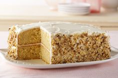 Banana-Sour Cream Cake #snack #treat