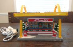 Dept 56 Original Snow Village McDonald's Handpainted Ceramic Light Up USED