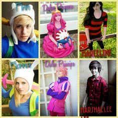 # Cosplay #AdventureTime #Finn&Fionna #BubblegumPrincess&BubblegumPrince #Marceline&MarsalLee #Part1 *3*