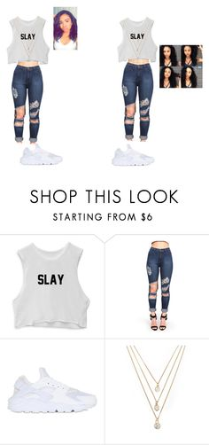 """Cousin goals‍❤️‍‍❤️‍‍❤️‍‍❤️‍"" by lw203900 ❤ liked on Polyvore featuring NIKE and Forever 21"