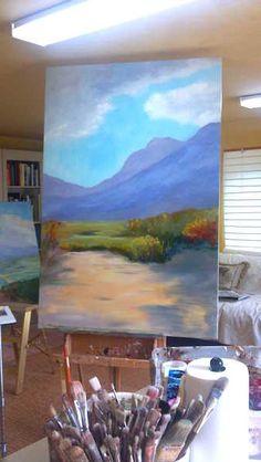 "California, the southern desert 40x60""  acrylic on canvas"