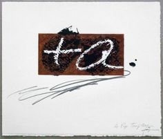 Artist: Antoni Tàpies, title: Variation 5 on the right angle, technology: Etching, carborundum, aquatint, Serigraph, Vernis Mou