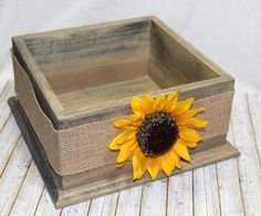 Items similar to Wedding Card BOX / Sunflower Card Box / Barnwood Card Box / Sunflower Wedding Decor / Rustic Card Box / Burlap Wedding Decor / Custom Colors on Etsy Sunflower Wedding Decorations, Burlap Wedding Decorations, Sunflower Party, Rustic Card Box Wedding, Wedding Cards, Gift Card Boxes, Shabby Flowers, Flower Girl Basket, Wooden Gifts