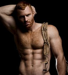 Naked redhead male
