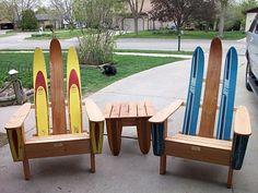 vintage water ski patio furniture / chairs