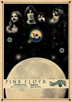 Pink Floyd, concert poster 1973