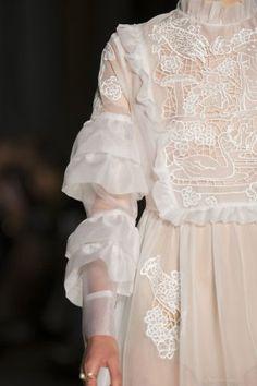 Sheer embroidered dress; delicate fashion details // Vivetta Spring 2017