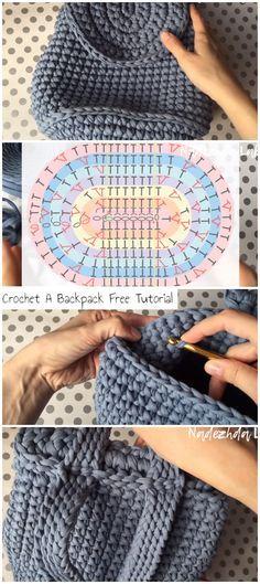 Crochet A Backpack Free Tutorial - Crochetopedia . Crochet A Backpack Free Tutorial - Crochetopedia Crochet Backpack Pattern, Crochet Pattern Free, Tutorial Crochet, Crochet Unique, Love Crochet, Diy Crochet, Crochet Handbags, Crochet Purses, Crochet Bags