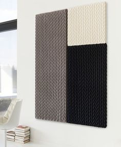 3D Textile With Good Acoustic Isolation #textile, #design, #fabrics, #patterns in Interior Textiles