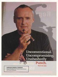Dennis Hopper advertising Punch Cigar.