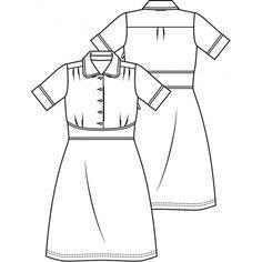 Patroon vintage jurk (pdf patroon)   Dames   Knipmode   Knipmode