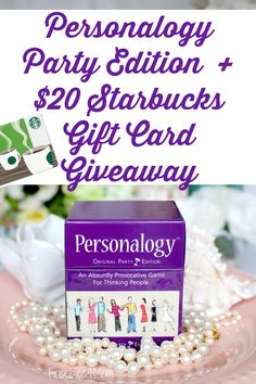 Enter to win Personalogy Party Edition + $20 Starbucks Giveaway ad It's the game that brings friends together! (ends May 9) http://freebies4mom.com/partypersonalogy