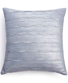 Infuse contemporary style. Calvin Klein's Luna Pleat decorative pillow features intricate stitching & pleated accents that raise the level of sophistication of any space. French closure. | Linen with