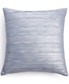 "Calvin Klein 18"" Square Luna Pleat Decorative Pillow"