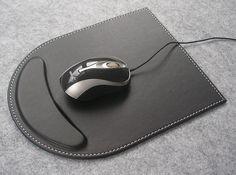 Leather-mouse-pad-elegant-mousepad-black