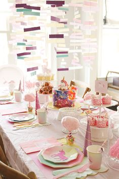 Create a magical unicorn birthday party with this charming and whimsical unicorn themed party ideas Unicorn Themed Birthday, Unicorn Party, Girl Birthday, Birthday Ideas, Baking Birthday Parties, Birthday Party Decorations, Rainbow Parties, Donut Party, Candy Party
