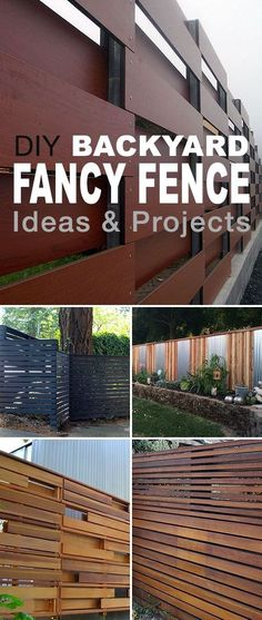 Best Diy Crafts Ideas For Your Home : DIY Backyard Fancy Fence Ideas! Some of these DIY fence ideas are really ama Diy Backyard Fence, Diy Fence, Backyard Landscaping, Fence Garden, Back Yard Fence Ideas, Backyard Ideas, Yard Fencing, Gabion Fence, Fence Art