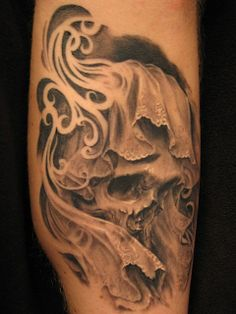 Skull Tattoo by Carlos Torres