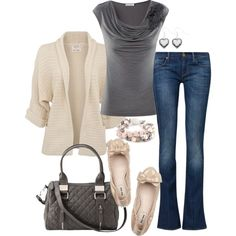 """""""Nude & Gray"""" by fun-to-wear on Polyvore"""