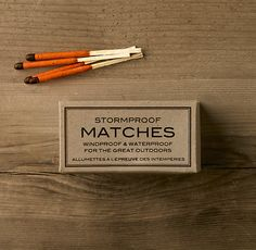 [Restoration Hardware] 'Stormproof' Matches - $12