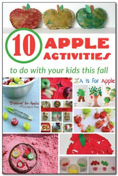 10 apple activities to do with your kids this fall, including:  - apple sensory play - apple fine motor play - apple recipes - apple Montessori ideas - apple math - and much more!  #apples || Gift of Curiosity