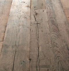 WAXED FLOORS | Reclaimed Oak Toulouse - detail of how the floor could look.