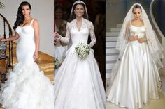 10 most beautiful celebrity brides of all time ewmoda Wedding Dresses Photos, Designer Wedding Dresses, Celebrity Wedding Gowns, Groom's Speech, White Outfits, Beautiful Celebrities, One Shoulder Wedding Dress, Nice Dresses, Brides