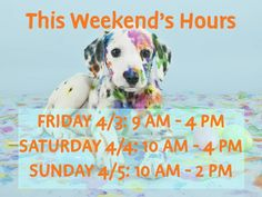 FYI we have different hours this weekend!