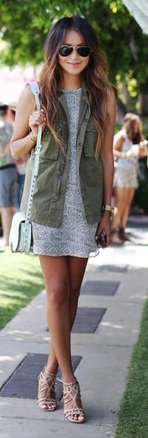 Cargo vest with a dreSs! So cute!
