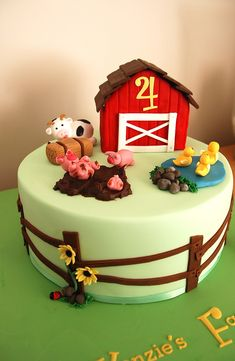 Farm cake | For a gorgeous little boy who loves farms and an… | Flickr
