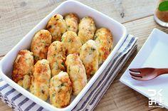チーズがとろ〜り。梅しそチーズの棒つくね  –  レシピサイト『つくおき』