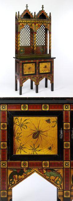 An fabulous Gothic Revival Cabinet circa 1875.  Amazing details!  ~ Splendor