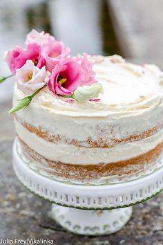 Wedding Naked Cake with Mascarpone Cream