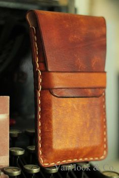 Leather Cell Phone Wallet // Hand Stitched on Etsy, $40.00