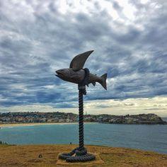 F L Y  F I S H  Sculpture By The Sea  #sculpture #sculpturebythesea #sculpturebythesea2015 #fish #flyingfish #view #hilltop #bondi #ilovebondi #bondibeach #beach #cloudporn #ocean #blue #statue #fly #freedom #life #nature #love #sydney #australia #photographydg #sunday #potd #instagood #snapseed #snapseedaily #bondibeachsydney #coastalwalkno1 by danagilden http://ift.tt/1KBxVYg