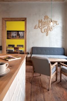 I like the simple upholstery of the banquette, as well as the lightness in the room.  MINISTER CAFÉ by Ostecx Créative, via Behance