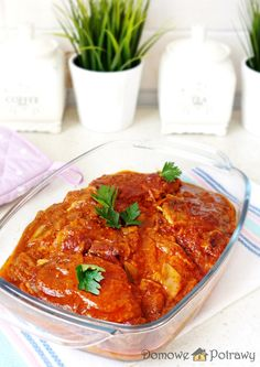 Polish Recipes, Pork Dishes, Feta, Grilling, Bbq, Curry, Food And Drink, Pizza, Dinner