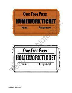 Best ideas about Homework Pass on Pinterest   Student birthday     Con Ip com Birthday homework pass