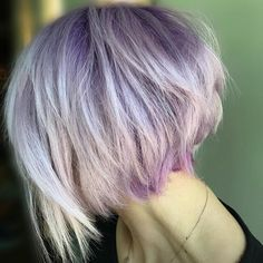 Pretty pastel purple Aveda hair color from Gigi's Salon Styling Studio on bleached hair. Formula: 15g Pastel V + 5g Pure V + 20g 0N + 5vol Color Catalyst. Prior to rinsing, pull color through ends for a few seconds.